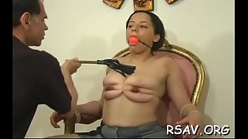 helpless juvenile cutie gets totaly tied up and thonged