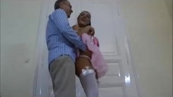 old man and a really hot brunette, - 77cam.net