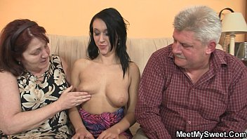 innocent girl is seduceed by granny and fucked.