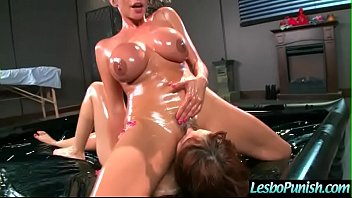 (adessa&amp_ariella) lesbians in hard punish sex scene using.