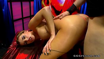 busty slut gives oral with asslicking in gangbang orgies