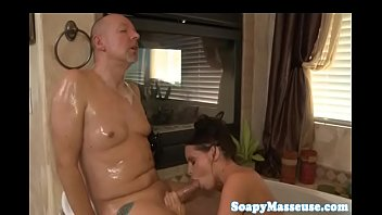 cum drinking nuru masseuse gets kinky