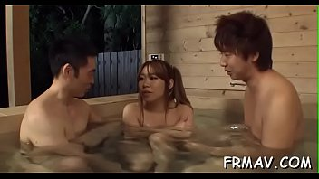 cute japanese merely gives superb blowjob.