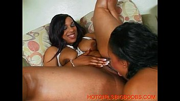 two ebony big tits lesbians get accompanied by.
