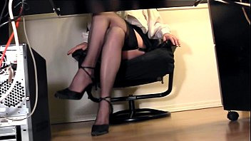 leggy secretary under desk voyeur cam.