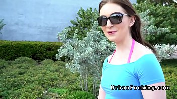 hairy pussy brunette fucking outdoor pov