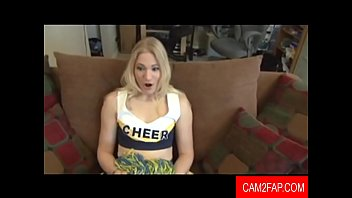 blond cheer leader gets anal fucked for the.