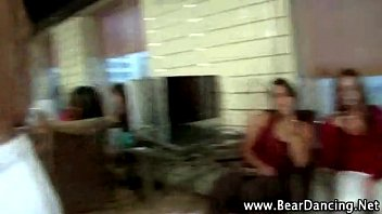 babe gets cfnm facial from stripper
