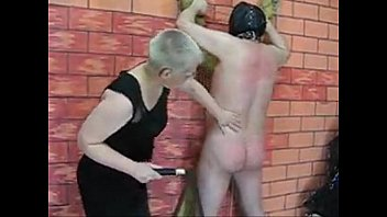 russian amateur mistress whiping slave tied.