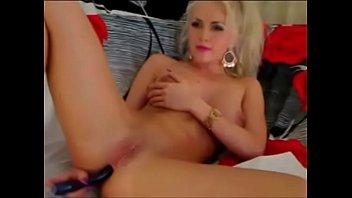 naughty blonde masturbates on cam - watch her.
