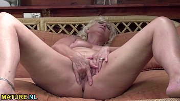 blonde mature fingering her ass and.