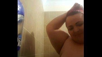 busty housewife taking bath naked self.