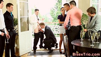 cock gobbling bisexual group orgy