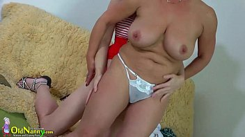 oldnanny busty bbw lady and lesbian.