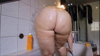 hot pawg taking shower big booty!.