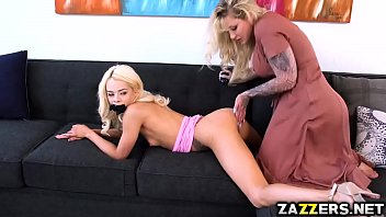 elsa jeans teen pussy fucked by a strap on