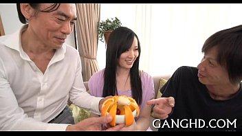 naughty japanese group-sex