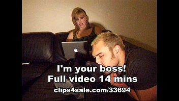 blonde female boss get her smelly.