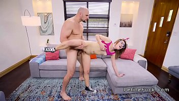 sexy teen spinner fucks huge cock.
