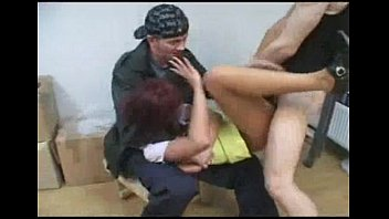 young redhead forced to suck and.