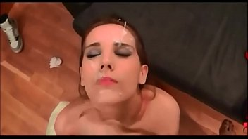 cumming all over her face