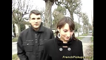 cute french teen picked up for.