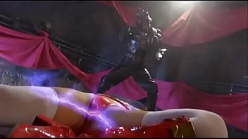 superheroine begging for her life then gives blowjob.