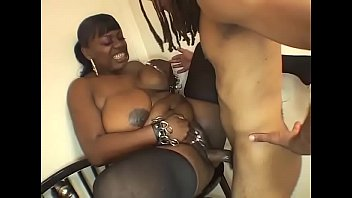 sexy black fat girl in stockings banged on.