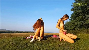 real amateur german sisters playing outdoor.