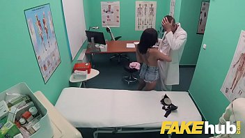 fake hospital tattooed hottie squirts and orgasms whilst.