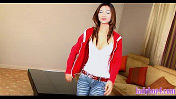 ladyboy beauty gives head and gets her tiny.