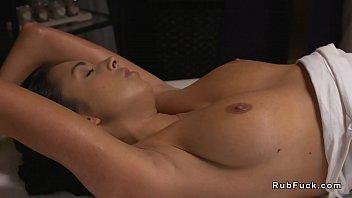 redhead russian masseuse oils naked brunette