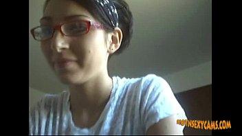 cute girl with glasses webcam masturbation.