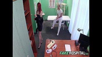 cute redhead rides doctor for cash - anne swix