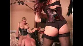 whipped while licking mistress pussy -.