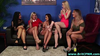 group of cfnm british babes sucking.