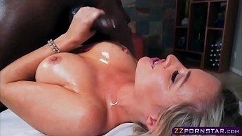 busty blonde masseuse enjoys a huge bbc meat rod