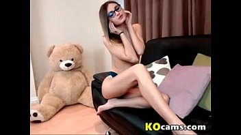 petite nerd student girl chating with.