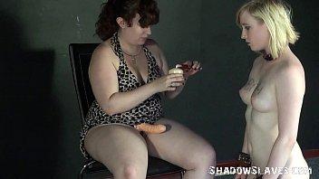 blonde satine spark in bizarre lesbian humiliation and.