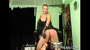 mistress humiliates dude during lewd femdom.