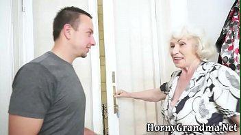 plumper granny facialized