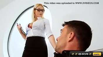 sexy blonde realtor double penetration during the open house