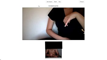 chatroulette - big tits girl gets horny by.