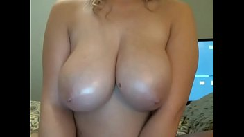 hot woman showing big round tits.