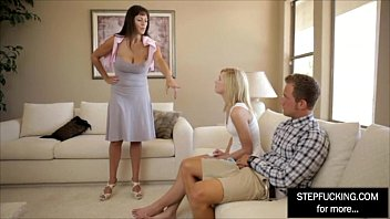 milf step mom teaching her daughter and boyfriend.