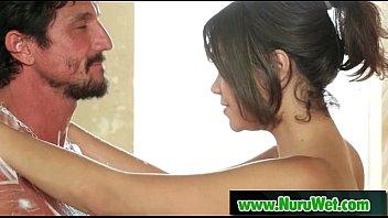 nuru massage with big tit asian and nasty.