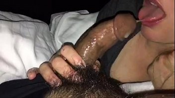 young blond gives sloppy blowjob and takes a.