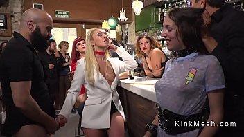 brunette hottie disgraced in barcelona