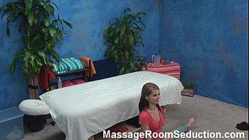 brunette teen babe hidden cam massage.