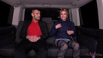 rescued blonde help to stranger in van with.